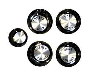 KNOBS STD GUITAR SET OF 5